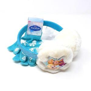NWT Disney Frozen Anna & Elsa Earmuff & Glove Set